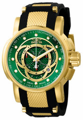 Invicta Men's 0898 S1 Rally Quartz Chronograph Green Dial Watch