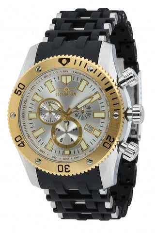 Invicta Men's 10250 Sea Spider Quartz Chronograph Silver Dial Watch