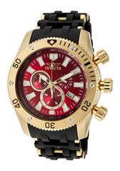 Invicta Men's 10255 Sea Spider Quartz Chronograph Red Dial Watch