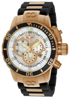 Invicta Men's 10620 Corduba Quartz 3 Hand Silver Dial Watch