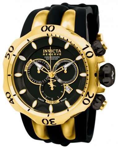 Invicta Men's 10833 Venom Quartz Chronograph Black Dial Watch