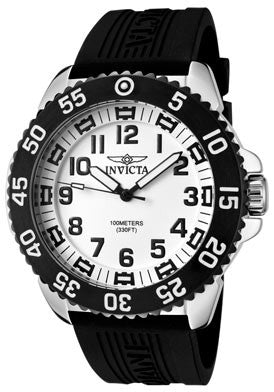 Invicta Men's 1101 Specialty Quartz 3 Hand White Dial Watch