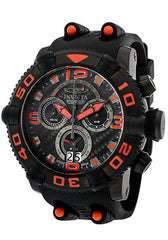 Invicta 12259 Men's Sea Hunter Quartz Chronograph Black Dial Watch