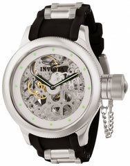 Invicta Men's 1242 Russian Diver Mechanical 2 Hand Silver Dial Watch