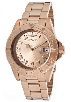 Invicta Men's 12821 Pro Diver Quartz 3 Hand Rose Gold Dial Watch