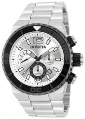 Invicta  Men's 12999 Pro Diver Quartz Chronograph Silver Dial Watch
