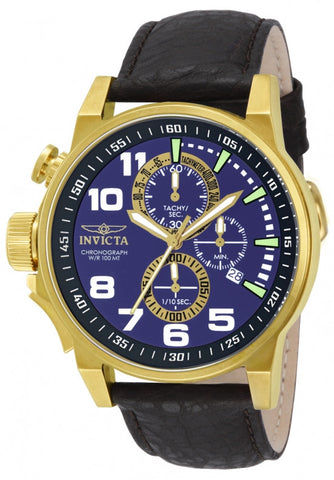 Invicta Unisex 13055 I-Force Quartz 3 Hand Blue Dial Watch