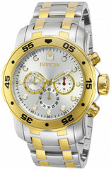 Invicta  Men's 13671 Pro Diver Quartz Chronograph Silver Dial Watch
