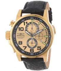 Invicta Men's 14475 I-Force Quartz 3 Hand Gold Dial Watch