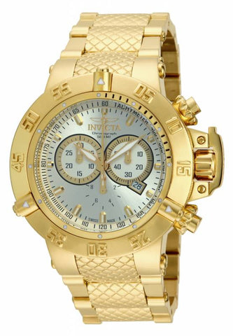 Invicta Men's 14502 Subaqua Quartz 3 Hand Silver Dial Watch