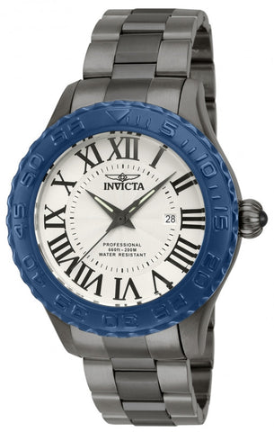 Invicta Men's 14540 Pro Diver Quartz 3 Hand Silver Dial Watch