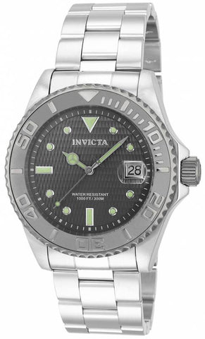 Invicta Men's 14758 Pro Diver Automatic 3 Hand Charcoal Dial Watch