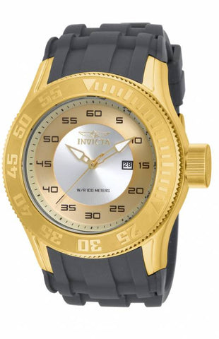 Invicta Men's 14831 Pro Diver Quartz 3 Hand Gold, Antique Silver Dial Watch