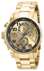 Invicta Men's 14958 I-Force Quartz Multifunction Black, Gold Dial Watch