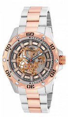 Invicta Men's 15230 Specialty Mechanical 3 Hand Rose Gold Dial Watch