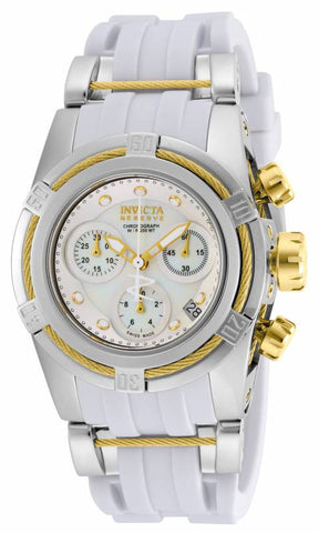 Invicta Women's 15279 Bolt Quartz Chronograph White Dial Watch