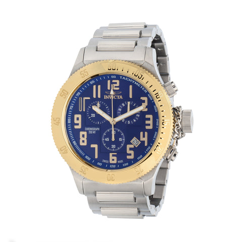 Invicta Men's 15555 Russian Diver Quartz Chronograph Blue Dial Watch
