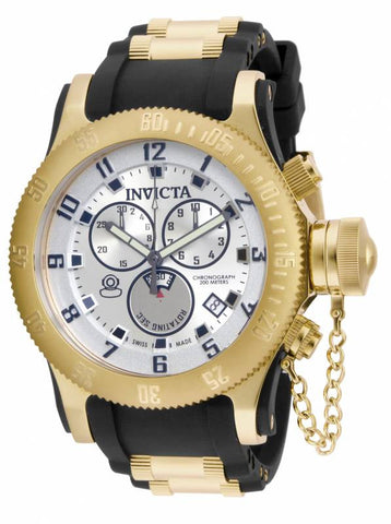Invicta Men's 15561 Russian Diver Quartz Chronograph Silver Dial Watch