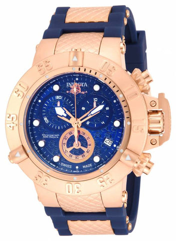 Invicta Men's 15804 Subaqua Quartz Chronograph Blue Dial Watch