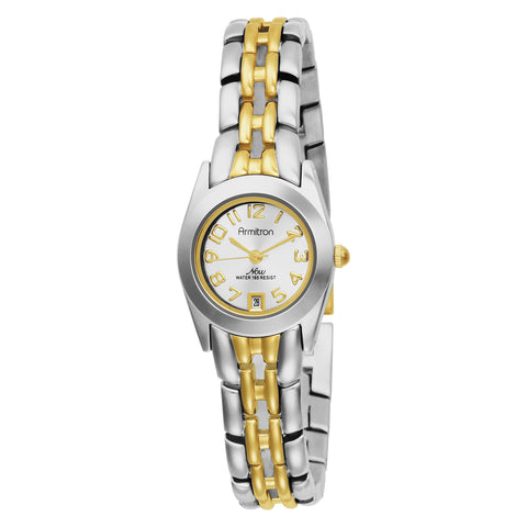 Armitron Women's 752435 NOW Two-Tone Easy to Read Round Dial Dress Watch