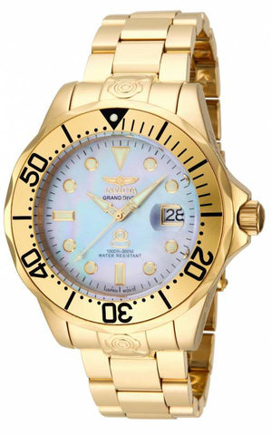 Invicta Men's 16033 Pro Diver Automatic 3 Hand Platinum Dial Watch