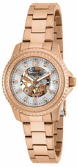 Invicta Women's 16705 Angel Mechanical 3 Hand White Dial Watch