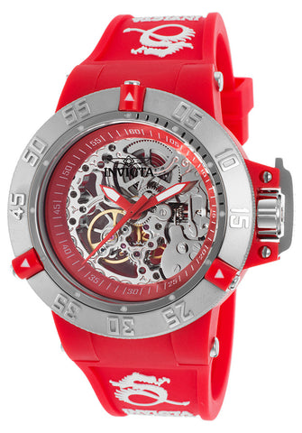 Invicta Women's 16781 Subaqua Mechanical 3 Hand Red Dial Watch