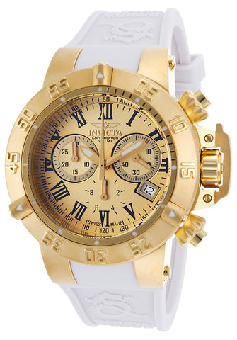 Invicta Women's 16880 Subaqua Quartz Chronograph Gold Dial Watch
