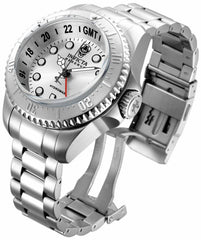 Invicta Men's 16958 Hydromax Quartz 3 Hand Silver Dial Watch