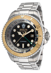 Invicta Men's 16960 Hydromax Quartz 3 Hand Black Dial Watch