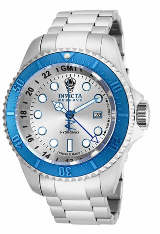 Invicta Men's 16970 Hydromax Quartz 3 Hand Silver Dial Watch