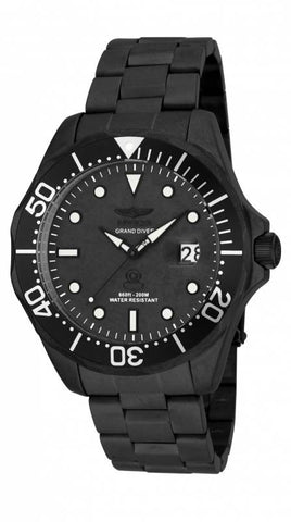 Invicta Men's 17110 Pro Diver Quartz 3 Hand Black Dial Watch