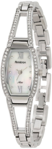 Armitron Women's 753531MPSV NOW Swarovski Crystal Accented Silver-Tone Bangle Bracelet Watch