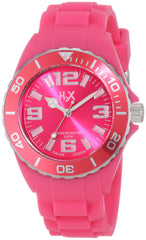 H2X Women's SF382DF1 Reef Luminous Water Resistant Hot Pink Soft Rubber Watch