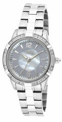 Invicta Women's 18032 Angel Quartz 3 Hand White, Silver Dial Watch