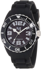H2X Women's SN382DN1 Reef Luminous Water Resistant Black Soft Rubber Watch