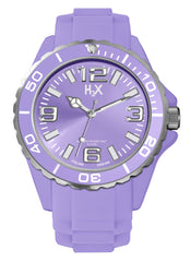H2X Women's SL382DL1 Reef Luminous Water Resistant Lavender Soft Rubber Watch