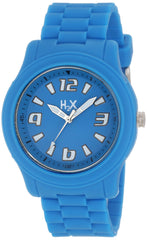 H2X Women's SA381XA1 Splash Luminous Water Resistant Light blue Soft Rubber Watch