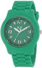 H2X Women's SG381XG1 Splash Luminous Water Resistant Green Soft Rubber Watch