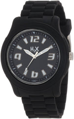H2X Women's SN381XN1 Splash Luminous Water Resistant Black Soft Rubber Watch