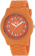 H2X Women's SO381XO1 Splash Luminous Water Resistant Orange Soft Rubber Watch