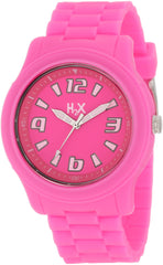 H2X Women's SF381XF1 Splash Luminous Water Resistant Neon Pink Soft Rubber Watch
