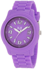 H2X Women's SL381XL1 Splash Luminous Water Resistant Lavender Soft Rubber Watch