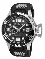 Invicta Men's 18831 Corduba Quartz 3 Hand Black, Gunmetal Dial Watch