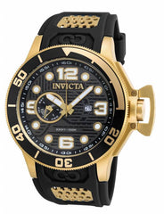 Invicta Men's 18833 Corduba Quartz 3 Hand Black, Gunmetal Dial Watch