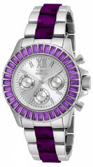 Invicta Women's 18870 Angel Quartz Chronograph Silver Dial Watch