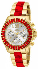 Invicta Women's 18872 Angel Quartz Chronograph Silver Dial Watch