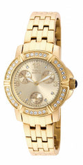 Invicta Women's 18964 Angel Quartz 3 Hand Gold Dial Watch