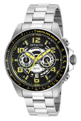 Invicta Men's 19282 Speedway Quartz Multifunction Black, Silver Dial Watch