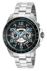 Invicta Men's 19283 Speedway Quartz Multifunction Black, Silver Dial Watch